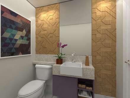 Cobertura .JT: Banheiros modernos por Amis Arquitetura & Design