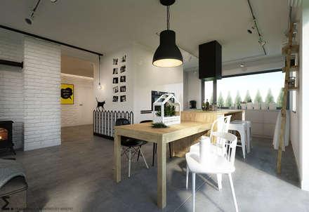 Po Skandynawsku: styl , w kategorii Jadalnia zaprojektowany przez ELEMENTY - Pracownia Architektury Wnętrz