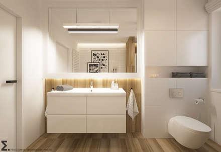 Po Skandynawsku: styl , w kategorii Łazienka zaprojektowany przez ELEMENTY - Pracownia Architektury Wnętrz