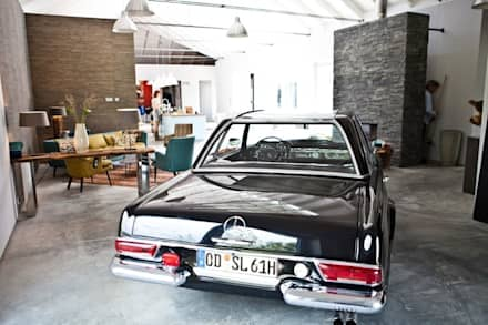 scandinavian Garage/shed by raphaeldesign