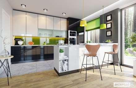 Projekt domu Simon G2 : styl , w kategorii Kuchnia zaprojektowany przez Pracownia Projektowa ARCHIPELAG