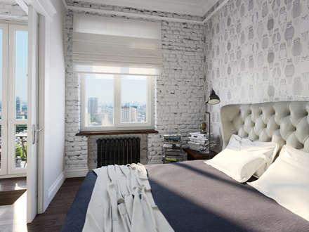 Квартира-студия в стиле лофт в центре Москвы: Спальни в . Автор - Aiya Lisova Design