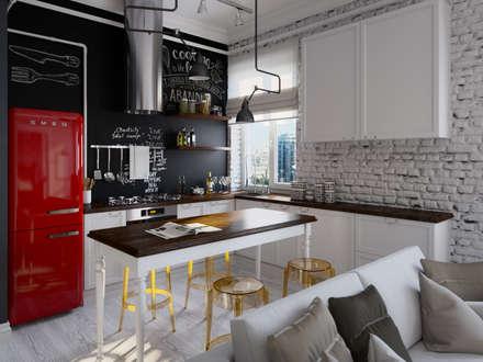 industrial Kitchen by Aiya Design