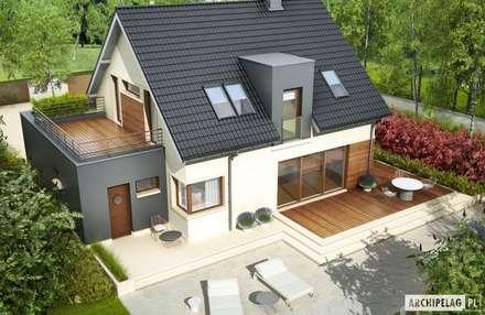 Projekt domu Mati G1 : styl nowoczesne, w kategorii Domy zaprojektowany przez Pracownia Projektowa ARCHIPELAG
