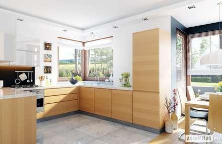 Projekt domu Mati G1 : styl , w kategorii Kuchnia zaprojektowany przez Pracownia Projektowa ARCHIPELAG