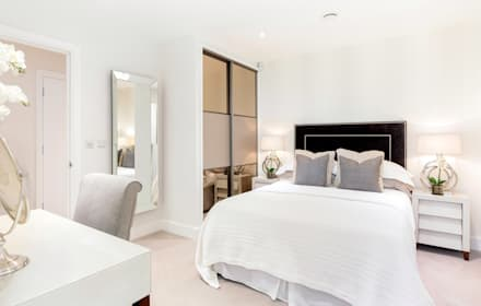 Master Bed by WN Interiors: modern Bedroom by WN Interiors of Poole in Dorset