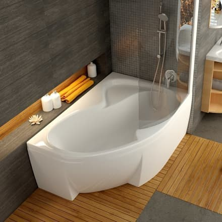Raumsparbadewanne Rosa II: klassische Badezimmer von Stach & Daiker GbR