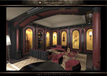 Villa Moscow: Sala multimediale in stile  di BenciDesign