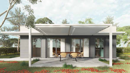 Easy01: Case in stile in stile Moderno di TheZeB Green Building & Interiors