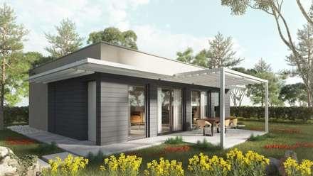 Easy 01: Case in stile in stile Moderno di TheZeB Green Building & Interiors