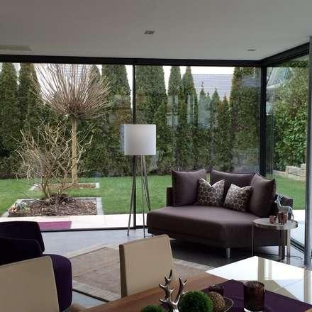 Minimale Profile: minimalistischer Wintergarten von Metallbau Beilmann GmbH