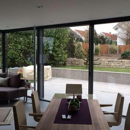 Wintergarten - minimalistische Formen: minimalistischer Wintergarten von Metallbau Beilmann GmbH
