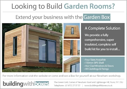 Garden Room: minimalistic Garage/shed by Building With Frames