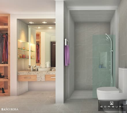 BAÑO M: Baños de estilo  por ANGOLO-grado arquitectónico