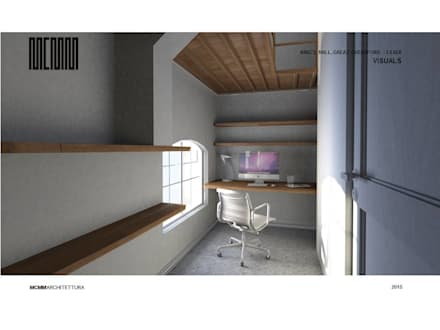 Flat refurbishment and conversion by MCMM: country Study/office by MCMM Architettura