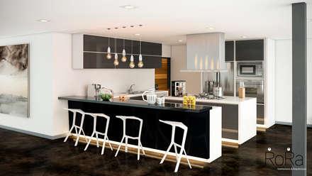 Desarrollo de Interiorísmo : Cocinas de estilo moderno por LA RORA Interiorismo & Arquitectura
