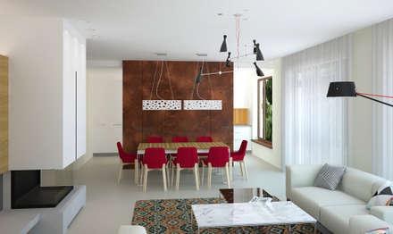 Дом для семейной пары с двумя детьми в г. Черкассы: Столовые комнаты в . Автор – дизайн-студия Олеси Середы