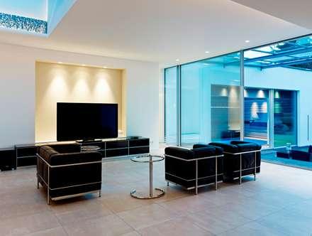 minimalistic Media room by Gritzmann Architekten
