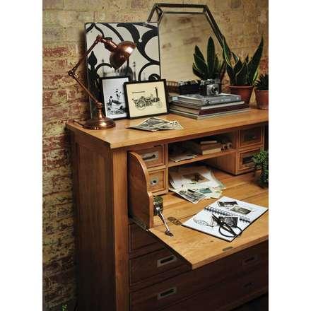 Light Oak Hidden Bureau: country Study/office by The Cotswold Company