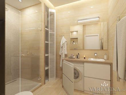 Дизайн квартиры в ЖК Кутузов: Ванные комнаты в . Автор – variatika