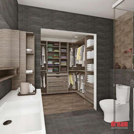 Vista Interior -Cuarto de baño: Baños de estilo  por Dream Arquitectura & Diseño