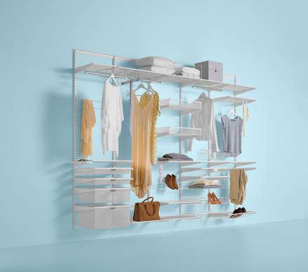 Erstklassige Aufbewahrungslösungen benötigen eine stabile Basis – Classic: minimalistische Ankleidezimmer von Elfa Deutschland GmbH