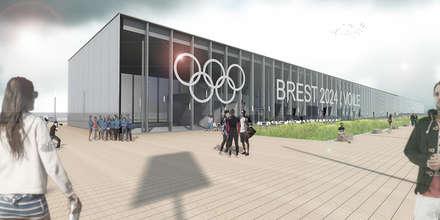 Le village olympique flottant / Glaz house - JO Brest 2024: Yachts & Jets de style de style Minimaliste par Trace & Associes architecture