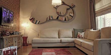 Bilgece Tasarım – Didem & Serkan Ozbakan: modern tarz Oturma Odası