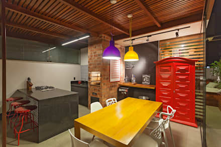Amis Arquitetura & Design의  베란다