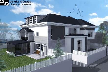 Deniz Gökçe Mimarlık ve İnşaat – Villa Tasarım | Villa Design: kırsal tarz tarz Evler