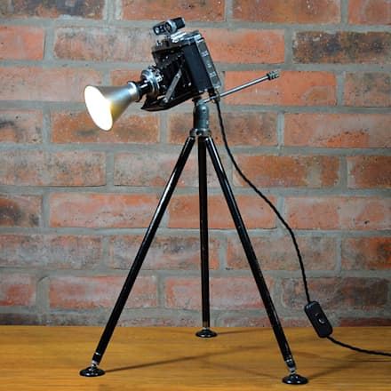 'THE ZEISS NETTAR' TABLE LAMP/DESK LIGHT: eclectic Media room by it's a light