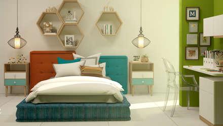 ห้องนอนเด็ก by CONTRASTE INTERIOR