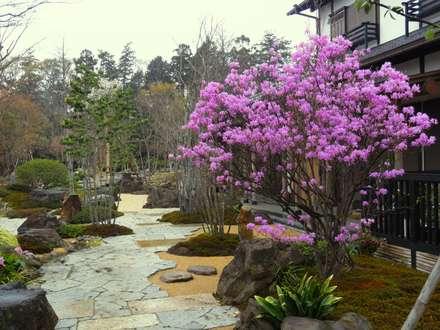 ミツバツツジ: 木村博明 株式会社木村グリーンガーデナーが手掛けた庭です。