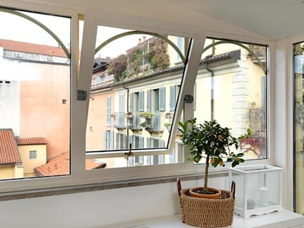 veranda ELEGANCE: Giardino d'inverno in stile in stile Classico di Cagis