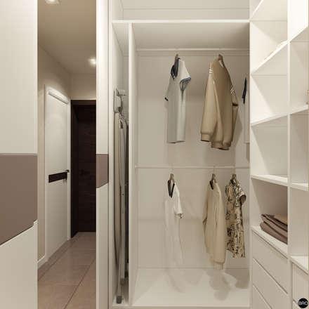 2-к квартира для молодой семьи: Гардеробные в . Автор – BRO Design Studio