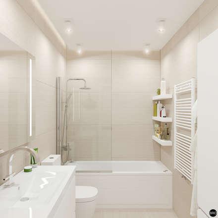 2-к квартира для молодой семьи: Ванные комнаты в . Автор – BRO Design Studio