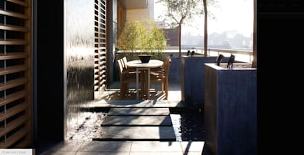A city balcony:  Terrace by Bowles & Wyer