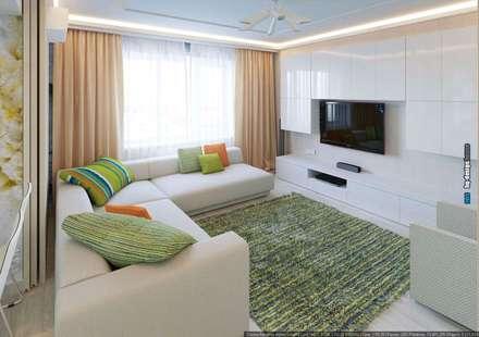 Дизайн интерьера квартиры 90кв.м в г.Саратове на ул.Шелковичной-2: Гостиная в . Автор – hq-design