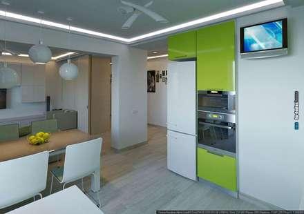 Дизайн интерьера квартиры 90кв.м в г.Саратове на ул.Шелковичной-2: Столовые комнаты в . Автор – hq-design