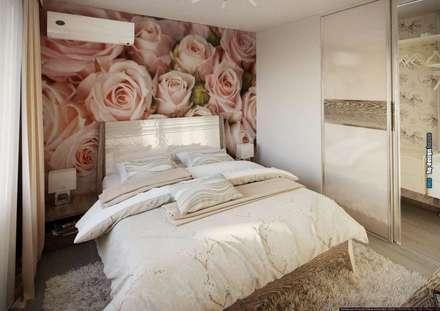 Дизайн интерьера квартиры 90кв.м в г.Саратове на ул.Шелковичной-2: Спальни в . Автор – hq-design
