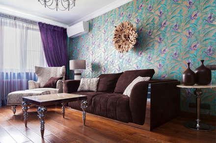 Квартира в Москве 106 кв. м.: Гостиная в . Автор – MM-STUDIO