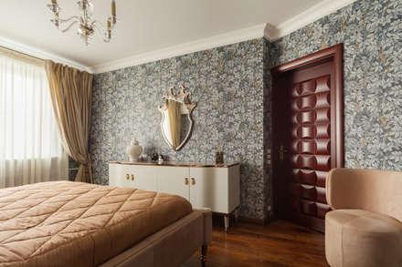 Квартира в Москве 106 кв. м.: Спальни в . Автор – MM-STUDIO