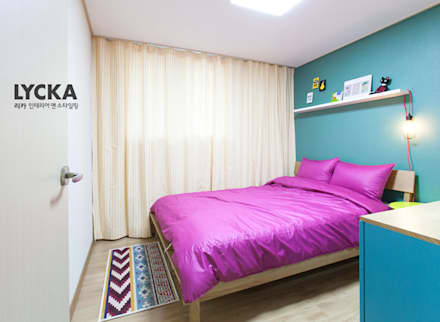 침실: LYCKA interior & styling의  침실