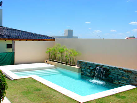 Piletas ideas im genes y decoraci n homify for Piscina en jardin de 60 metros