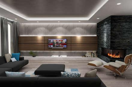 RADIO TPU – Kanca Evi Salon Proje Görseli 02: minimal tarz tarz Oturma Odası
