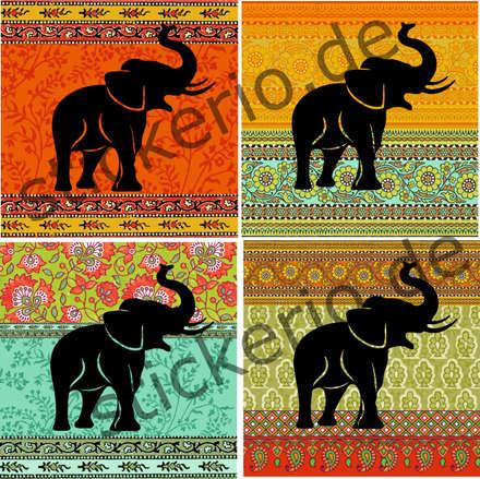 """Fliesenaufkleber """"Elephants"""": asiatische Badezimmer von Atelier1944"""