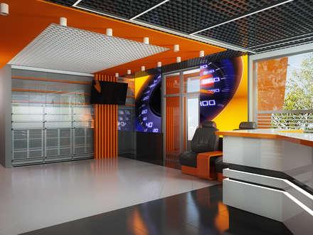 Проект автомойки: Медиа комнаты в . Автор – Инна Михайская