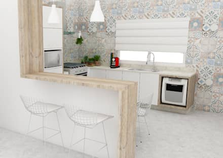 ห้องครัว by Arquiteto Virtual - Projetos On lIne