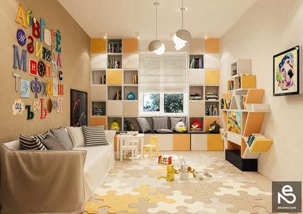 ห้องนอนเด็ก by Studio Eksarev & Nagornaya
