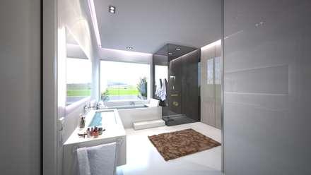Moderne Dusche im Baddesign: minimalistisches Spa von Design by Torsten Müller